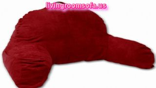 Great Red Bed Pillows With Arms