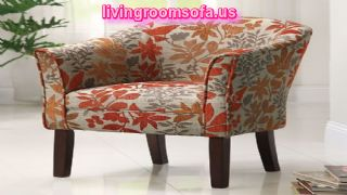 Great Leafs Patterned Accent Chair Design