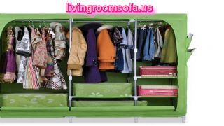 Green Cheap Style Wardrobe Armoires Designs