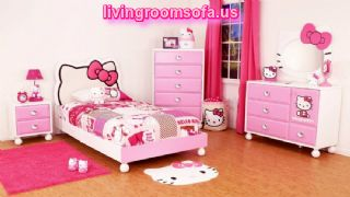 Hello Kitty Bedrooms For Girls Design Ideas