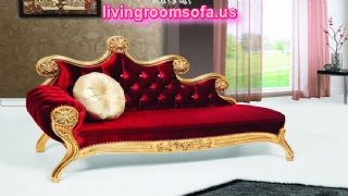 Josephine Red Velvet Carved Chaise Lounge Design