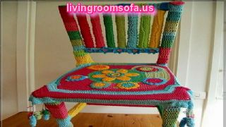 Knitted Colourful Chaises Design Ideas