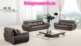 Leather Brown Affordable Contemporary Sofas