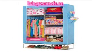 Light Blue Cheap Style Wardrobe Armoires Designs