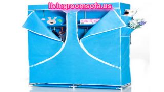 Light Blue Cheap Style Wardrobe Armoires Designs Pictures