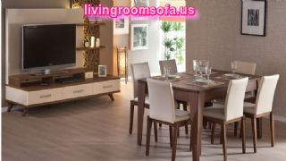 Modern Beige Casual Dining Room Furniture