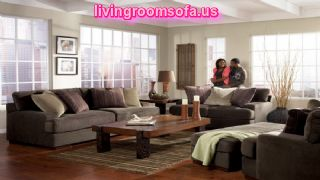 Modern Living Room Set Fabric Gray