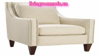 Modern White Accent Chairs With Arms Fabric