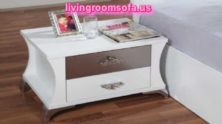 Modern White Bedside Tables Nightstands Design