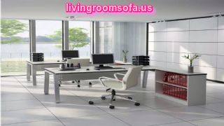 Modern White Office Furniture Decorating