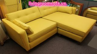 Modern Yellow Apartment Size Sectional Sofa : apartment size sectional with chaise - Sectionals, Sofas & Couches