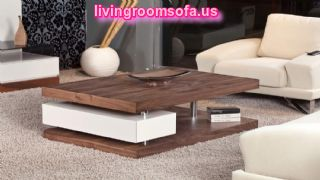 Modern And White,brown Contemporary Coffee Tables