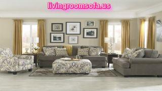 Modern Ashley Coulson Smoke Living Room Set