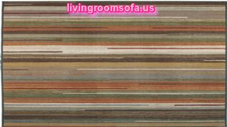 Modern Colorful Stripes Area Rugs