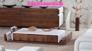 Modern White And Brown Contemporary Coffee Tables