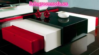 Modern White And Black Contemporary Coffee Tables