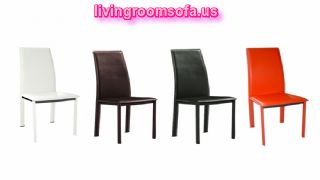 Orange Black Brown White Leather Chaises Design Ideas