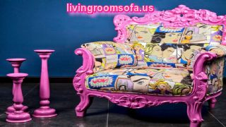 Pink Classic Patchwork Chairs For Living Room