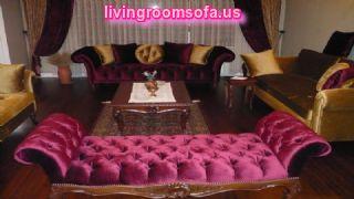Pink Velvet Bedroom Settee Bench «