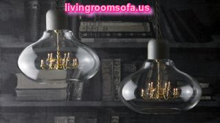 Pumpkin Style Big Living Room Lamps