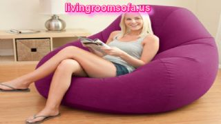 Purple Beaufitul Chair Design For Living Room