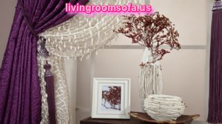 Purple White Bedroom Curtain Ideas