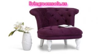 Purple White Chair For Living Room