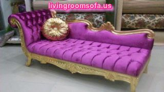 Purple Josephine Bedroom Chaise Lounge