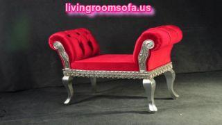 Red Bedroom Settee Bench Design Ideas