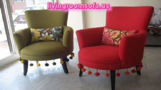 Red And Green Couple Chairs For Living Room