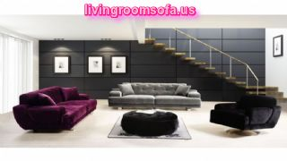 The Most Beaufitul  And Modern Purple,gray And Black Contemporary Fabric Sofas