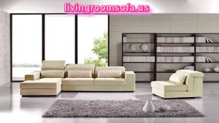 The Most Beaufitul And White Contemporary Brown Microfiber Sectional Sofa 3