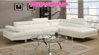 White Affordable L Shaped Loveseats Design Ideas