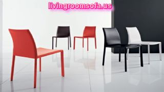 White Black Red Dining Room Chairs Leather
