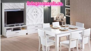White Casual Dining Room Furniture Design
