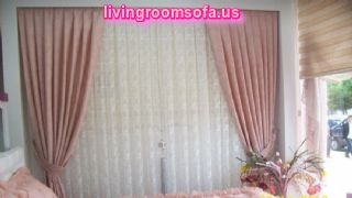 White Pink Bedroom Curtain Ideas