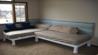 White Wooden 2 Twin Beds