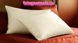 White And Brown Bed Pillows
