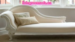 White Bedroom Chaise Lounge Design