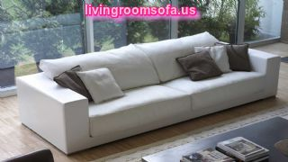 White Design Contemporary Leather Sofa Couch