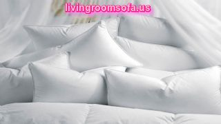 White Puffy Bed Pillows