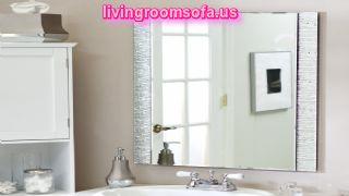 Wonderful Bathroom Wall Mirrors Design Ideas