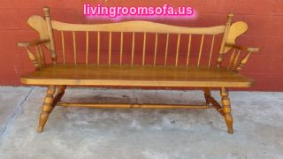 Wonderful Oak Antique Settee Bench