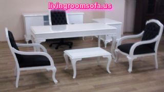 Wonderful Office Table And Chairs White Black