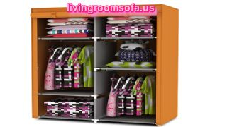 Yellow Cheap Style Wardrobe Armoires Designs