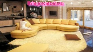 Yellow And Modern  Contemporary Fabric Sofas