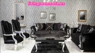 Amazing Black Sofa Sets For Luxury Living Room Design