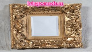 Antique Carved Gold Square Deep Frame Mirror