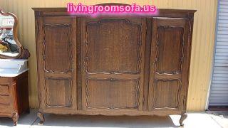 Antique Wooden Bedroom Armoire Wardrobe