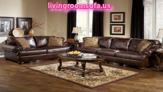 Ashley Furniture Axiom Leather Living Room Set